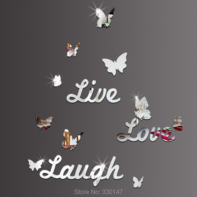 ΞGrande live love laugh mariposa etiqueta de la pared decoración ...