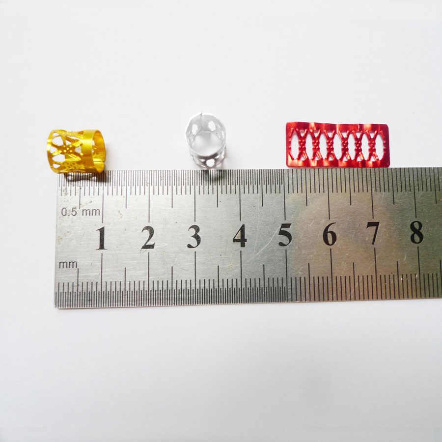 100 шт./лот смешивания Серебряные; золотые покрытием Волосы Заплетены страх Dreadlock Бусины и бисер регулируемые манжеты клип 8 мм металлический зажим пятки замок
