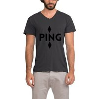 Ping Company Logo American Company V Neck Crossfit Dragon Kanye West T Shirt Men 2017 Regular