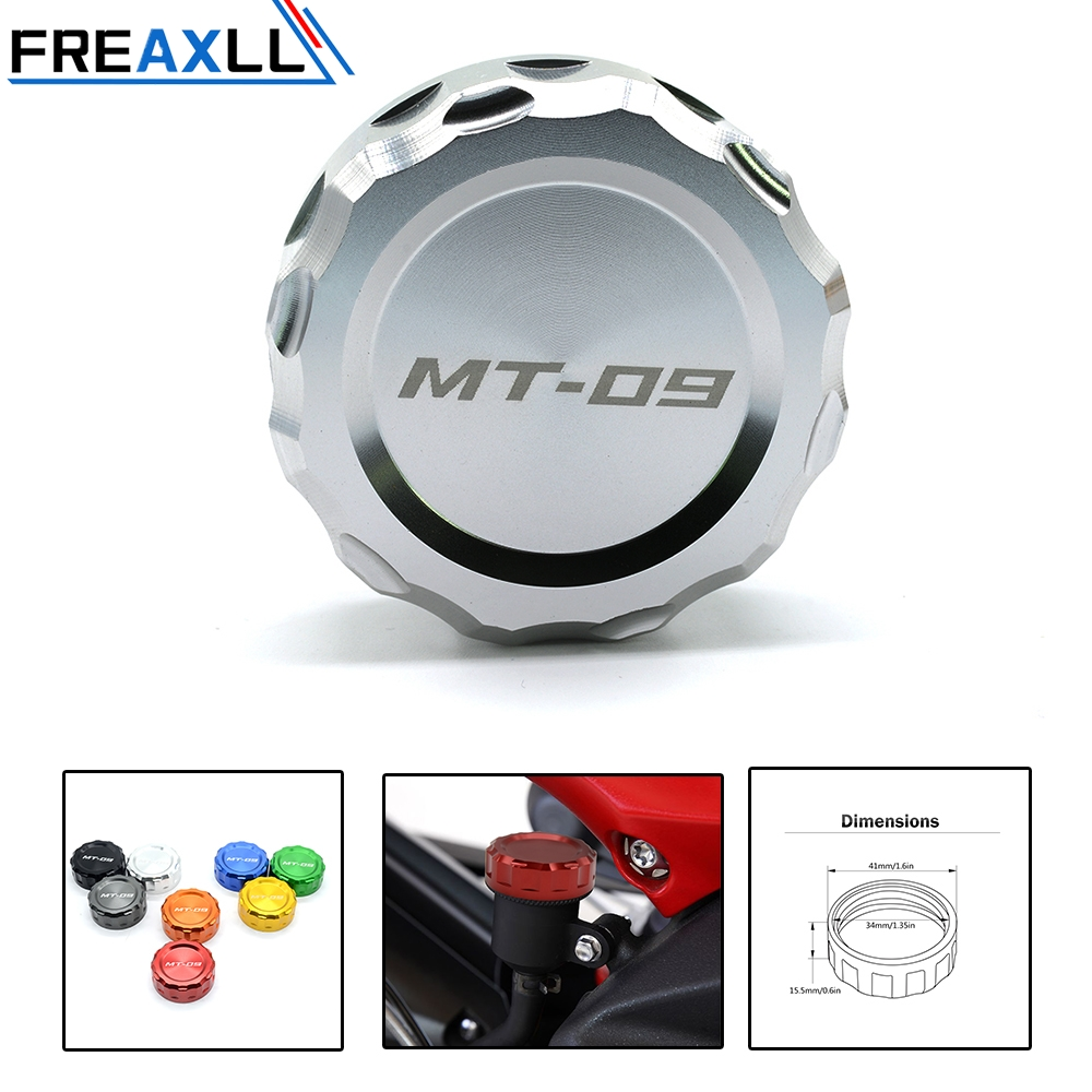 FREAXLL 1 Piece Aluminum Motorcycle Cylinder Reservoir Cover Rear Brake Fluid Reservoir Cover For Yamaha MT 09 MT09 2013 2014 in Covers Ornamental Mouldings from Automobiles Motorcycles