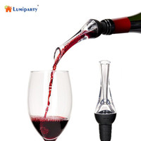 LumiParty Premium Acrylic Red Wine Aerator Pourer Bottle Top Decanter Spout-20