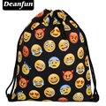 Deanfun Women Emoji Backpack 2016 New Fashion Womens Backpacks 3D Printing Bags Drawstring Bag For Men BSKD60