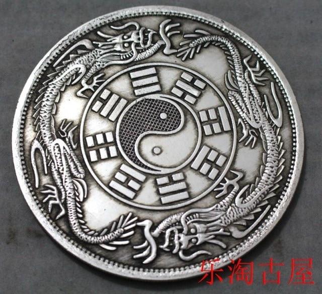 Aliexpress Buy Big China Silver Dollar Coin Taiji Ba Gua To