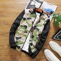 Autumn New Hot 2016 men's fashion Japanese camouflage jacket stitching Slim Korean comfort casual trend minimalist jacket M-5XL