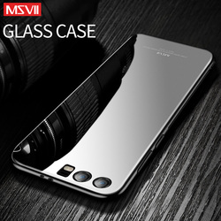 Msvii Tempered Glass Cover for Huawei Honor 9 Case Silicone Phone Back Transparent Premium Hard Waterproof Full Silicon Armor
