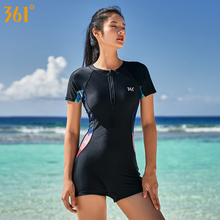 361 Female Sport Swimsuit with Pad 2019 New One Piece Swimsuit Push Up Women Black Sexy Swimwear Girl Student Pool Bathing Suits цена