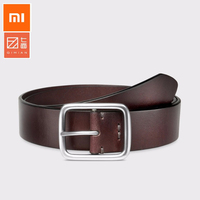 Best quality Xiaomi Mijia Qimian 100% Leisure Cow Leather Belt Fashion Five Hole 38mm Width for Man Alluminum Buckle Best Gift Smart Remote Control