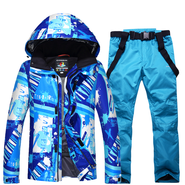 Free Freight Ski Suit,  Winter Outdoor, Single Board, Double Ski, Underwear, Windproof, Waterproof, Warm And Thick Ski Suit.
