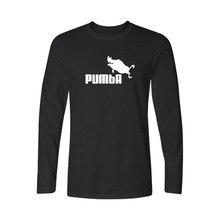 Funny Pumba New Fashion T Shirt Men Long Sleeve Cotton T-Shirt with tshirt Men Luxury European Style in Cotton Tees 3xl