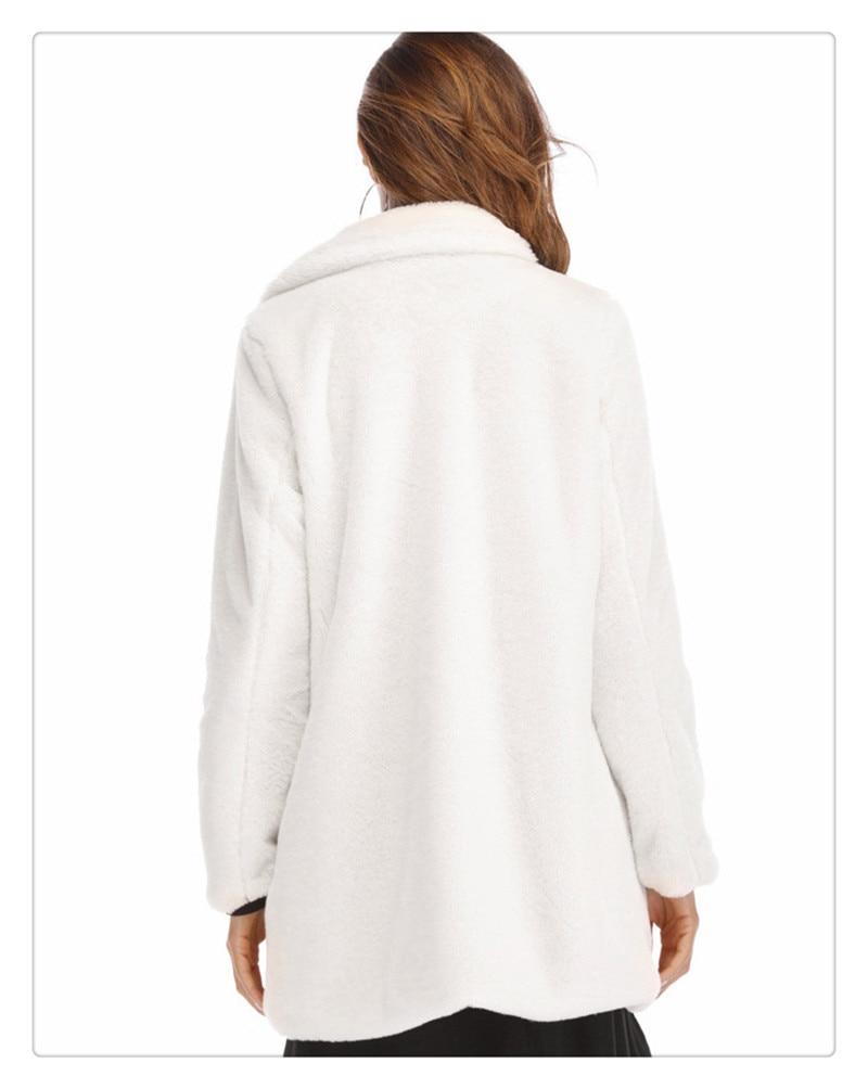 Imitation fur coat 2018 European and American women's wear long and loose plush soft rabbit hair (6)