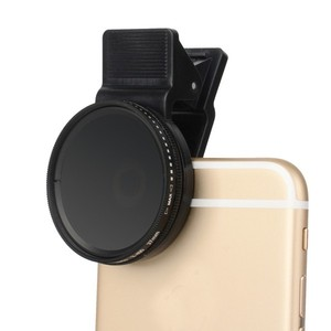 Image 1 - Zomei Adjustable 37mm Neutral Density Clip on ND2   ND400 Phone Camera Filter Lens for iPhone Huawei Samsung Android ios Mobile