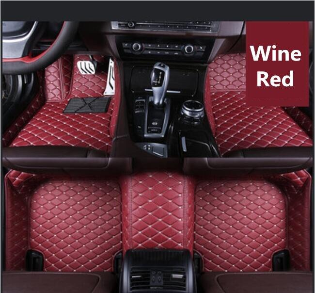Auto Zubehör Styling Benutzerdefinierte Fuß Matten 3d Luxus Leder Auto Boden Matten Für Toyota Avalon 2019 2020 Senility VerzöGern