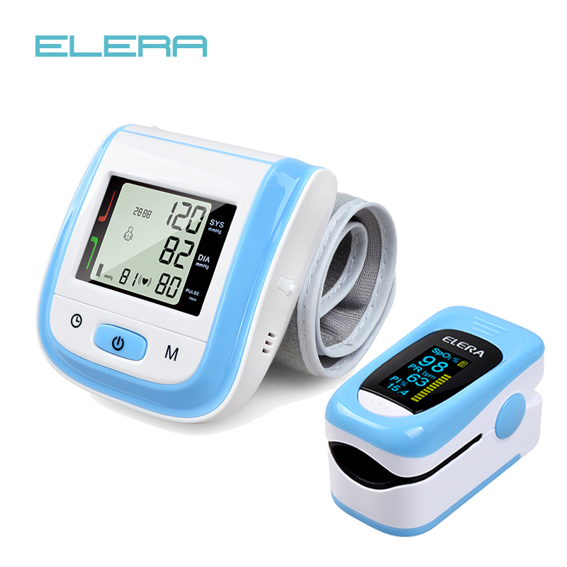 Health Care Pink LCD Digital Wrist Blood Pressure Monitor Tonometer+CE FDA Fingertip Pulse Pink Oximeter Oximetro Alarm SettingHealth Care Pink LCD Digital Wrist Blood Pressure Monitor Tonometer+CE FDA Fingertip Pulse Pink Oximeter Oximetro Alarm Setting