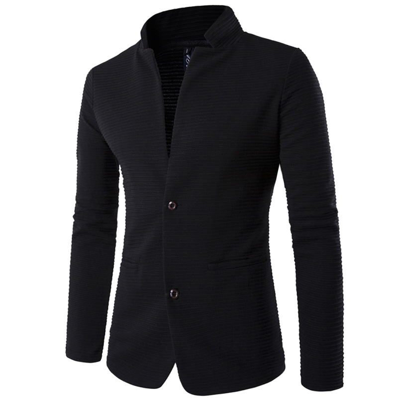 2019 New Fashion Terno Masculino Personality Without Collar Stitching Men's Suit Brand High Quality Blazer Slim Fit Masculino