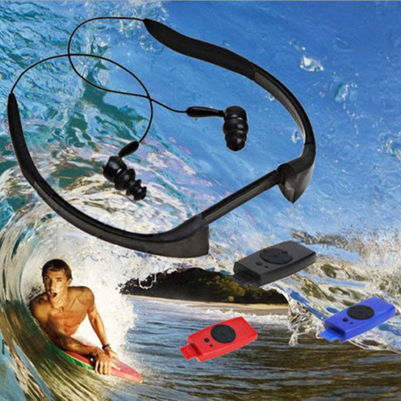 IPX8 Waterproof 8G MP3 Music Player FM Earphone Underwater Sport Swimming