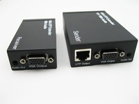 New 300m HD 1080P VGA UTP Extender 1x1Splitter With Audio Over Cat5 5e 6 RJ45 Ethernet