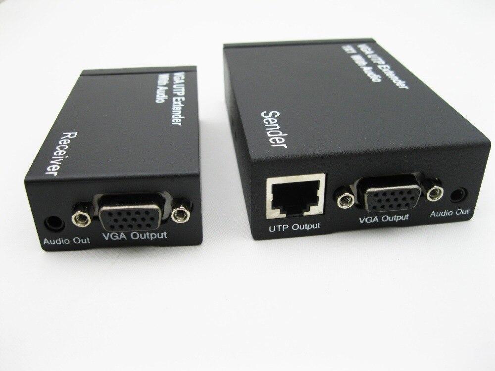 REDAMIGO 300 m HD 1080 P VGA UTP Extender 1x1 séparateur avec Audio sur Cat5/5e/6 câble ethernet RJ45 pour projecteur HDTV VGA300M