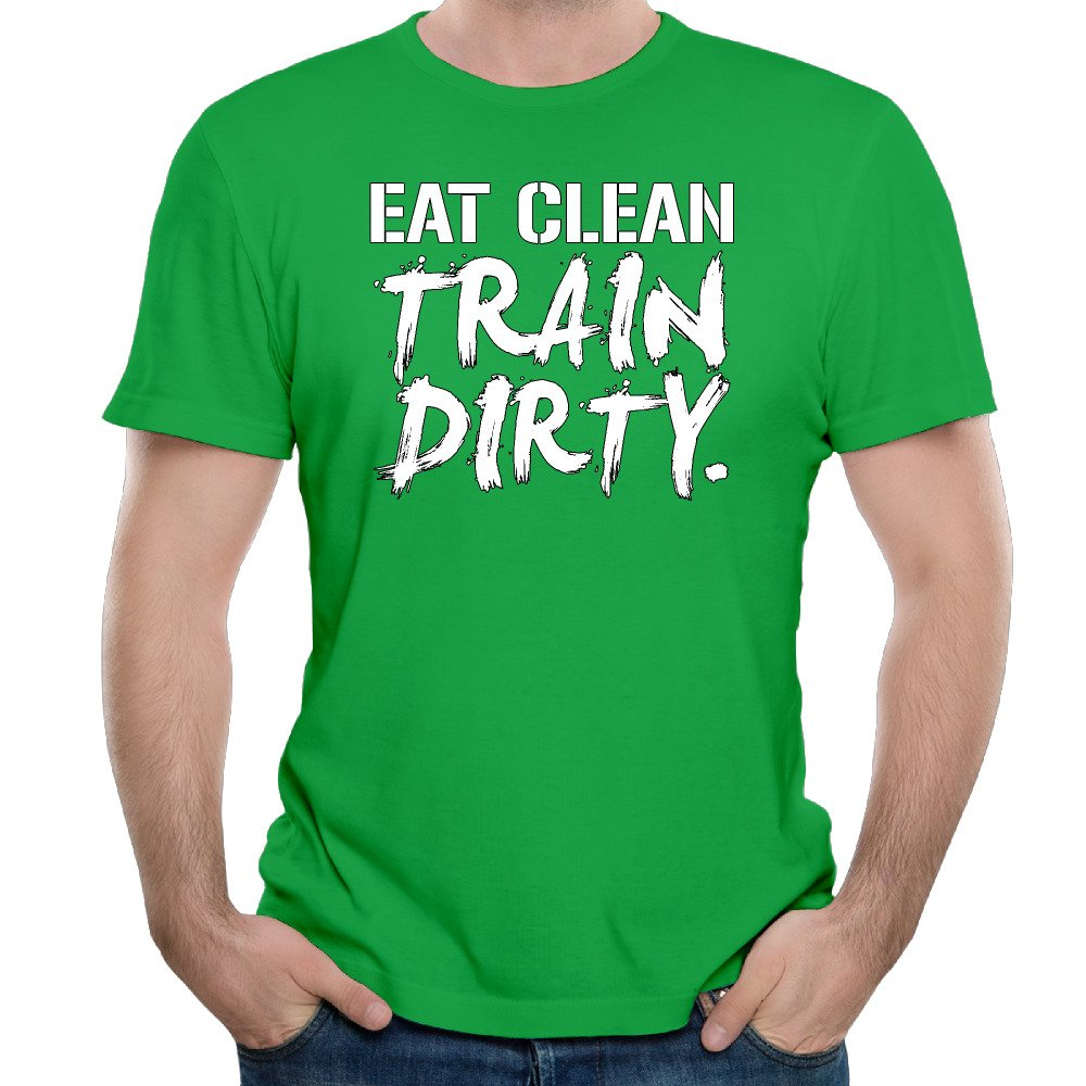 eat clean train dirty white cotton print o neck short custom funny t shirts cosplay kellygreen t. Black Bedroom Furniture Sets. Home Design Ideas