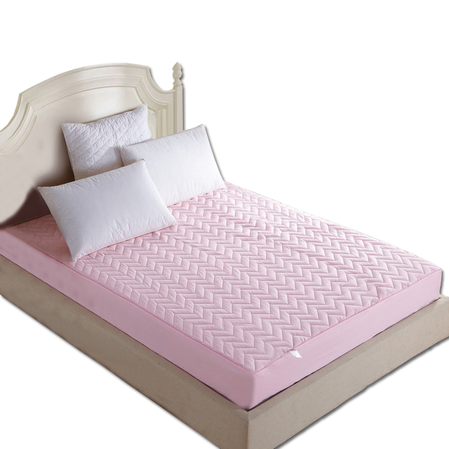 Quilted Mattress Protective Cover With Rubber Stuffing Fillings Pad Thin Sanding Cotton Four