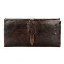 цены на Men Long Genuine Leather Wallet Hasp Clutch Coin Purse Male Handy Cowhide  Leather Coin Wallet Card Holder Money Bag Wallet  в интернет-магазинах