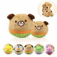 WZYAS Lustige Biss Resistant Nettes Tier Designs Chew Squeaker Squeaky Plüsch Squeak Solide Hund Ball Haustier Hund Spielzeug Für Kleine hunde Haustiere
