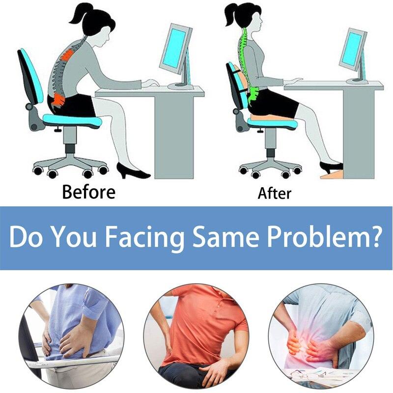HTB1X7eqdQ5E3KVjSZFCq6zuzXXaP 2 In 1 Bamboo Fiber Memory Foam Seat Cushion Back Cushion Slow Rebound Waist Support Set for Home Office Health Care Chair Pad