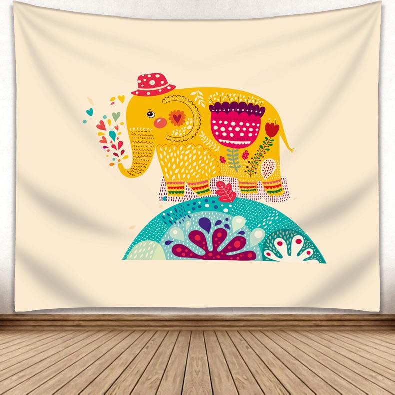 Elefanten Tapisserie Mandala Indian Tapisserie Wandbehang Gedruckt Dekoration Strand Matte