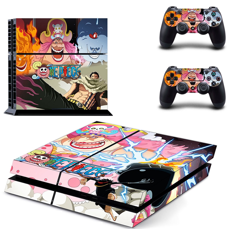 Image 5 - HOMEREALLY Stickers PS4 Skin Anime One Piece Sticker for Sony Playstation 4 Controller and Console Skin PS4 Accessory-in Stickers from Consumer Electronics