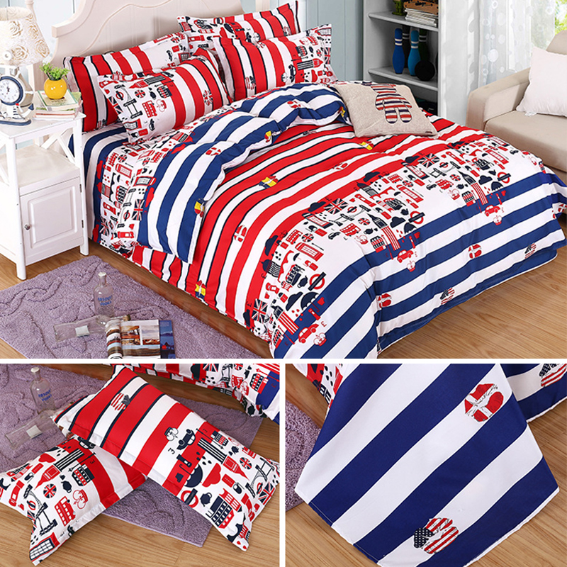 1Set Down 4 Species Jacket Cartoon Style Quilt Cover Bed