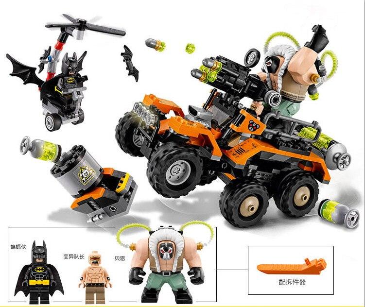 Бэтмен Плёнки fleau toxique Камион attaque 70914 chauve-Souris Mutant лидер Building Block 366 шт. briques Jouets pour le кадо