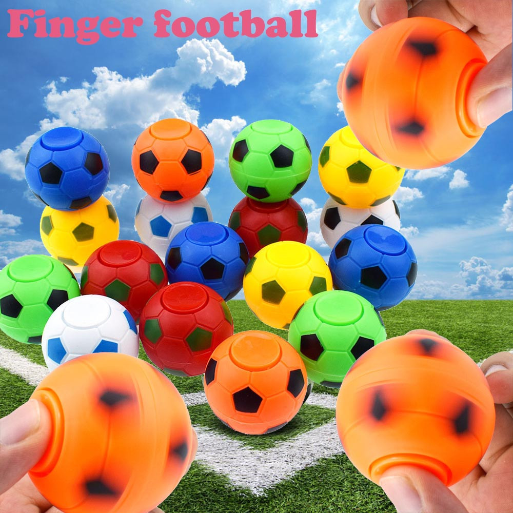 2019 stuiterende sauter spinner Frange Football Jeu juguetes Main Spinner Concentrer le TDAH EDC Jouet Anti-Stress Jouet Gyro fidget