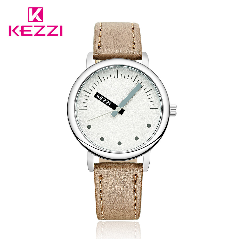 KEZZI Top Brand Ladies Quartz Watch Luxury Wristwatches Waterproof Casual Fashion Women Wrist Watch Leather Relogio Clock black elbow design 6mm pu tube to 1 8 pt male thread pneumatic quick fittings joint connector 5 pcs