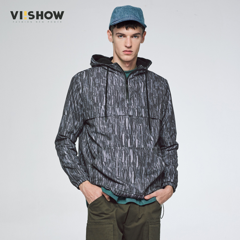 VIISHOW New Arrival Autumn Winter Jacket Men Brand Clothing Cotton Hooded Coat Male Quality Fashion Gray Parkas Men MC34564