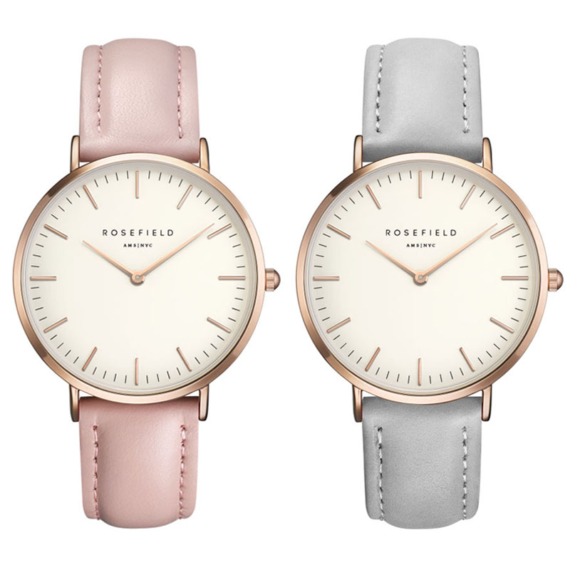 Rosefield Leisure male table Thin and simple design Luxury brand Belt Ladies Watch neutral Bauhaus design Ultra-thin waterproof bauhaus bauhaus mask lp cd