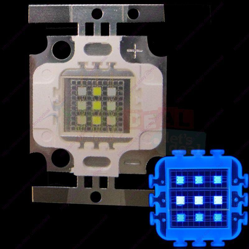 10W Super Actinic 3xCool White 10000K 6xRoyal Blue Hybrid High Power Multichip LED Intergrated Light Source For Aquarium
