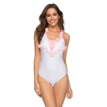 Купить с кэшбэком White Bikini 2019 Mujer Ruffle Petals One Piece Swimsuit Female Sexy Swimwear Push Up Bathing Suit Women Bather Brazilian Bikini