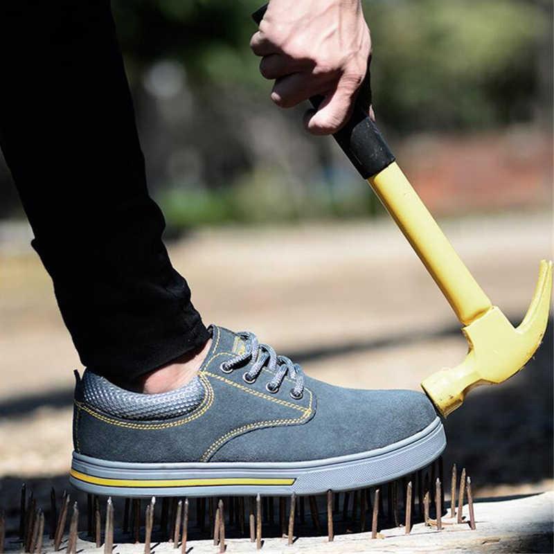 Thép Không Gỉ Mũi Nắp Giày Trong Công Việc & An Toàn Giày Xây Dựng Công Nghiệp Giày Cho Công Việc Nam Cắm Trại Giày Cho Đi Bộ Đường Dài