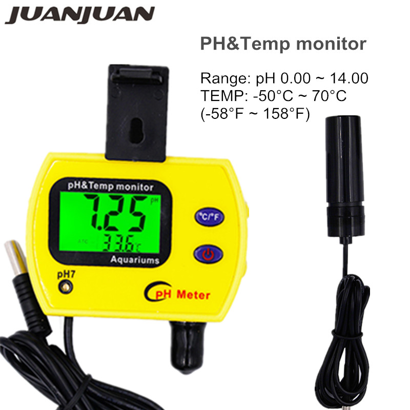 PH Meter Tester Water Quality Online monitor PH&Temp Meter pH-991 Acidimeter Analyzer for Aquarium Swimming pool 40%off