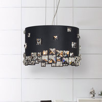 Crystal LED Meal Pendant Round Simple Modern Creative Personality Living Room Bedroom Restaurant Lamps