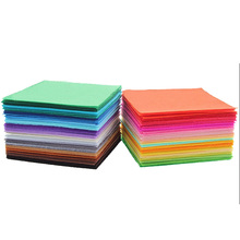 40pcs Non Woven Felt Fabric 1mm Thickness Polyester Cloth Felts Of Home Decoration Pattern Bundle For Sewing Dolls Craft 15x15cm