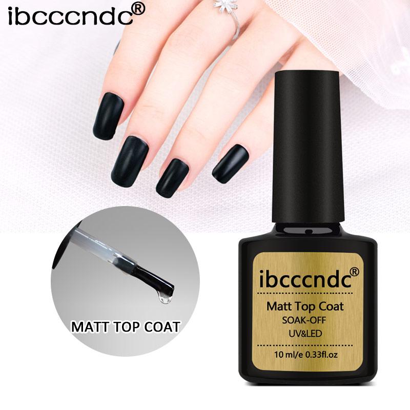 1Pcs 10ml Matte Top Coat Gel Nail Art Tips Finish Matt Top UV Gel Lacquer Varnish Manicure Tool