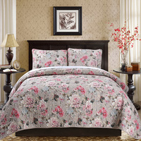 4/3 Unids 100% América del estilo floral impresión de algodón juego de cama de lujo edredón colcha doble queen size funda nórdica conjunto pillowcaes