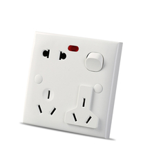 цена на 5Pcs White 250V 10A US AU Plug Power Point Wall Socket Charger Receptacle Outlet Panel Universal