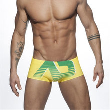 Мужские трусы-боксеры, сексуальные плавки с подкладкой, с низкой талией, с буквенным принтом, плавательные пляжные шорты, Jammer, одежда для плавания, пляжная одежда