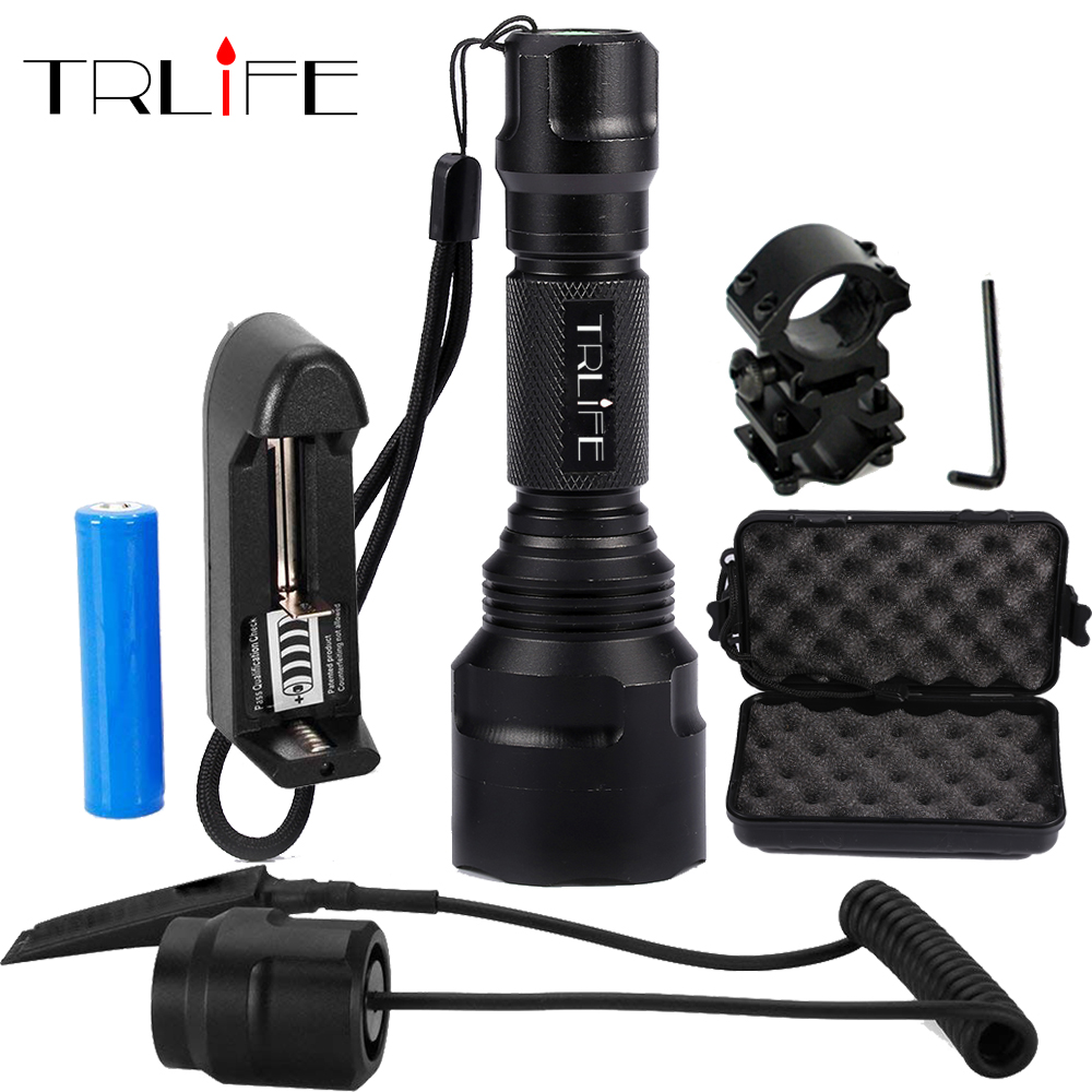 1 mode C8 LED Flashlight 5 Modes 10000lums Tactical FlashlightS T6/L2 Torch Waterproof Flash Light By 18650 Rechargeable battery rechargeable 2000lm tactical cree xm l t6 led flashlight 5 modes 2 18650 battery dc car charger power adapter