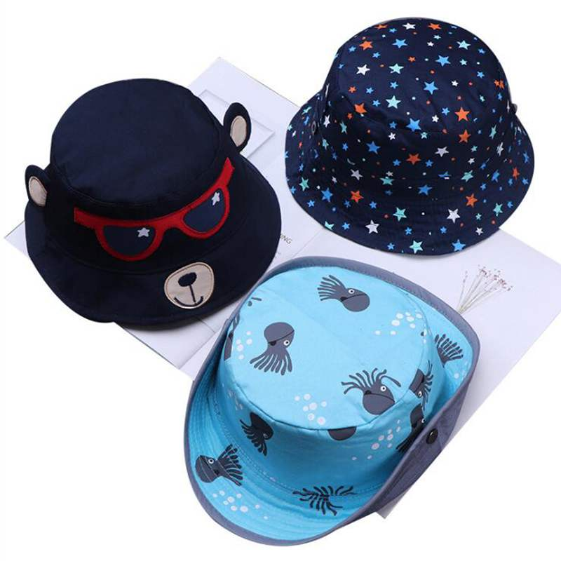 Fashion Hotborn Cap Toddler Baby Girl Boys Hat Infant Sun Cap Beach Bucket Hats For Children Mother & Kids Accessories
