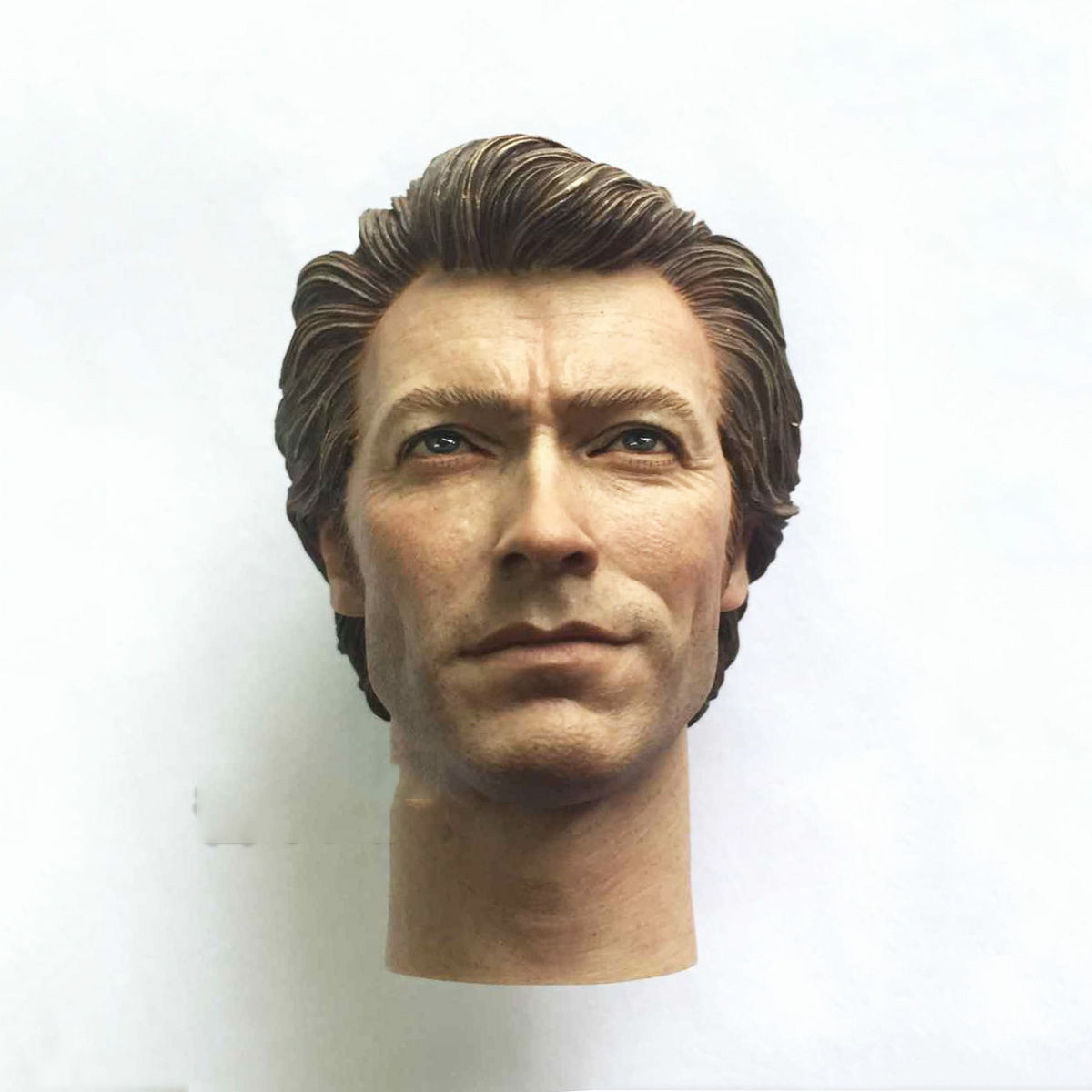 Free Shipping 1/6 Detective Harry Clint Eastwood Soldiers Head Carved Model Fit 12Collectible Doll Toys Accessories die shi spot burning the soul of a model burns 1 6 head carved figures are base contains mask