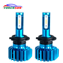 FOXCNSUN H15 LED Car Headlight H4 H7 Led Bulbs H1 H11 H8 HIR2 HB4 HB3 9006 9005 Auto Fog Lamp csp 12000LM 6500K 12V Mini Bulb(China)