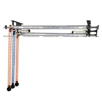 3 Roller Wall Ceiling Mount Manual Background Support System  3X 3M Cross Bar Kit  CD50