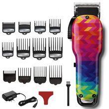 Fryzjer profesjonalna maszynka do włosów potężne mężczyźni elektryczna maszynka do włosów bezprzewodowa maszynka do strzyżenia włosów narzędzie do cięcia włosów (120 rodzajów kolorów) tanie tanio SHINON Akumulator Elektryczny Zarówno Pracy Globalny Uniwersalny (100-240 V) universal STAINLESS STEEL 45 Min 120 kind-colors
